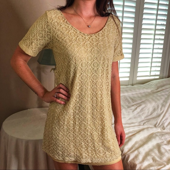 Posh Garden Dresses & Skirts - 3 LEFT XS-M Boho Chic Embroidered Ecru Mini Dress